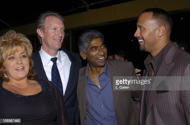 Dwana Pusser daughter of Sheriff Buford Pusser Chris McGurk MGM Chief Operating Officer Ashok Amritraj producer and Dwayne The Rock Johnson