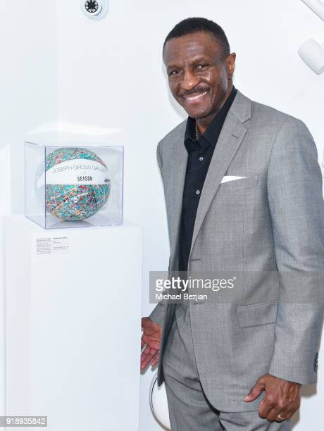 Dwane Casey attends Amare Stoudemire hosts ART OF THE GAME art show presented by Sotheby's and Joseph Gross Gallery on February 15 2018 in Los...