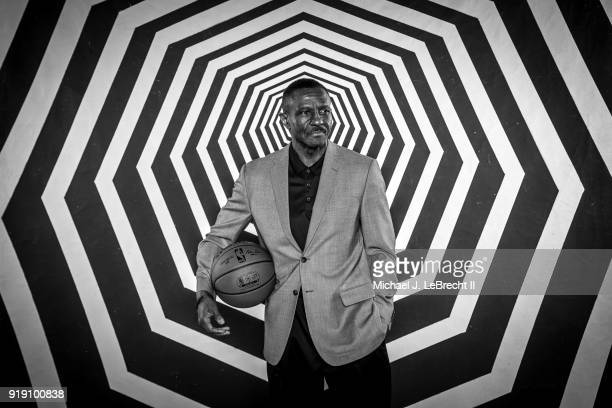 Dwane Casey of the Toronto Raptors poses for a portrait as part of the 2018 NBA AllStar Weekend on February 16 2018 at the Mariott in Los Angeles...