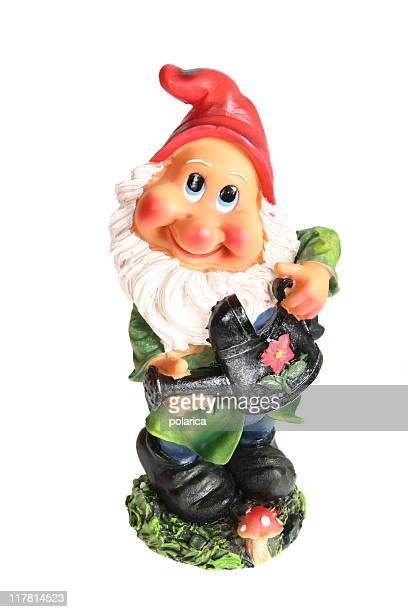dwarf series - garden gnome stock photos and pictures