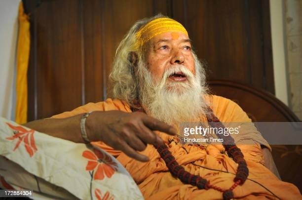 Dwarka Shankaracharya Swami Swaroopanand Saraswati ji Maharaja addressing the media person on the Kedarnath prayer issue on July 5 2013 in New Delhi...