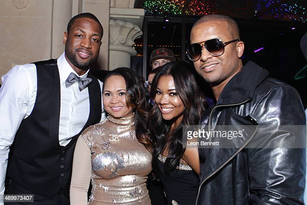 Dwayan Wade Tymeka Lawrence Gabrielle Union and Brock Lawrence attends the 'Who Party The Hardest' Event hosted by 2 Chainz Monica and Hairfinity...