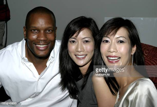 Dwayne Adway and Ada TaiArlene Tai during Scene It Hollywood Challenge at Hollywood History Museum in Hollywood California United States