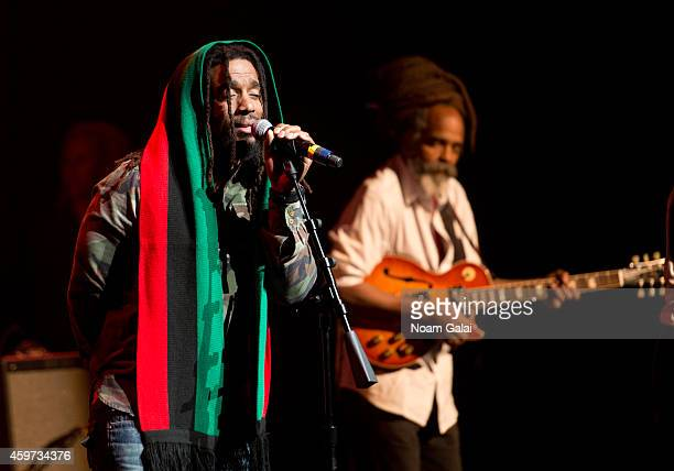 Dwayne Anglin and Rasmel of The Wailers perform during The Wailers 30th Anniversary Performance at The Apollo Theater on November 29 2014 in New York...