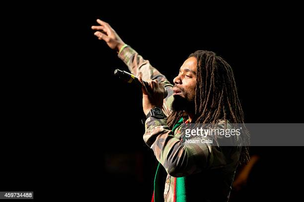 Dwayne Anglin of The Wailers performs during The Wailers 30th Anniversary Performance at The Apollo Theater on November 29 2014 in New York City