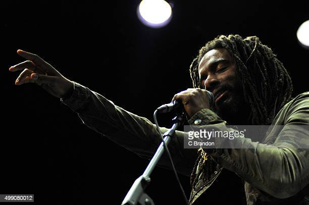 Dwayne Anglin of The Wailers performs on stage at the Indigo2 at The O2 Arena on November 28 2015 in London England