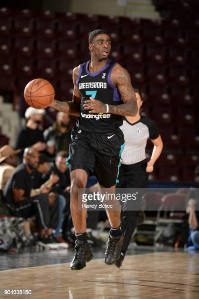 Dwayne Bacon of the Greensboro Swarm handles the ball against the Texas Legends at NBA G League Showcase Game 17 on January 12 2018 at the Hershey...