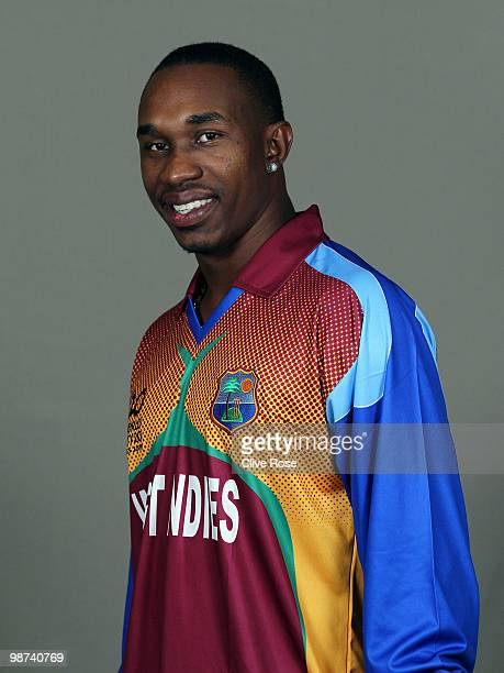 Dwayne Bravo of West Indies poses during a portrait session ahead of the ICC T20 World Cup at the Pegasus Hotel on April 26 2010 in Georgetown Guyana