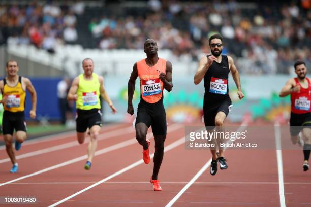 Dwayne Cowan of Great Britain wins the 400M Mens National during Day One of the Muller Anniversary Games at London Stadium on July 21 2018 in London...