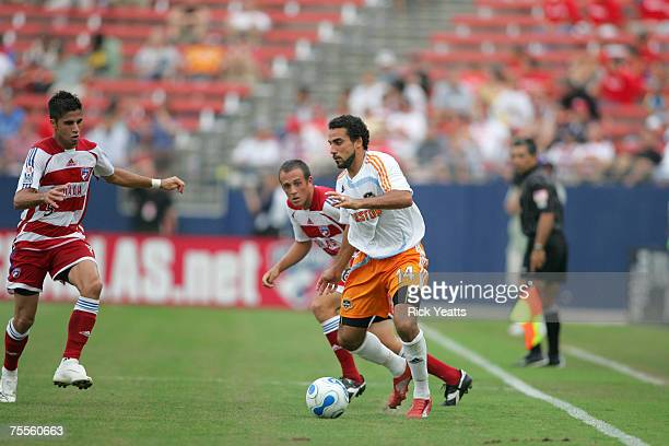 Dwayne De Rosario of Houston during a MLS match between FC Dallas and Houston Dynamo at Pizza Hut Park on June 30 2007 in Frisco Texas