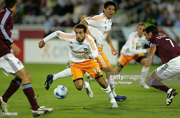 Dwayne De Rosario of the Houston Dynamo controls the ball against the Colorado Rapids as the Dynmo defeated the Rapids 31 at Dick's Sporting Goods...