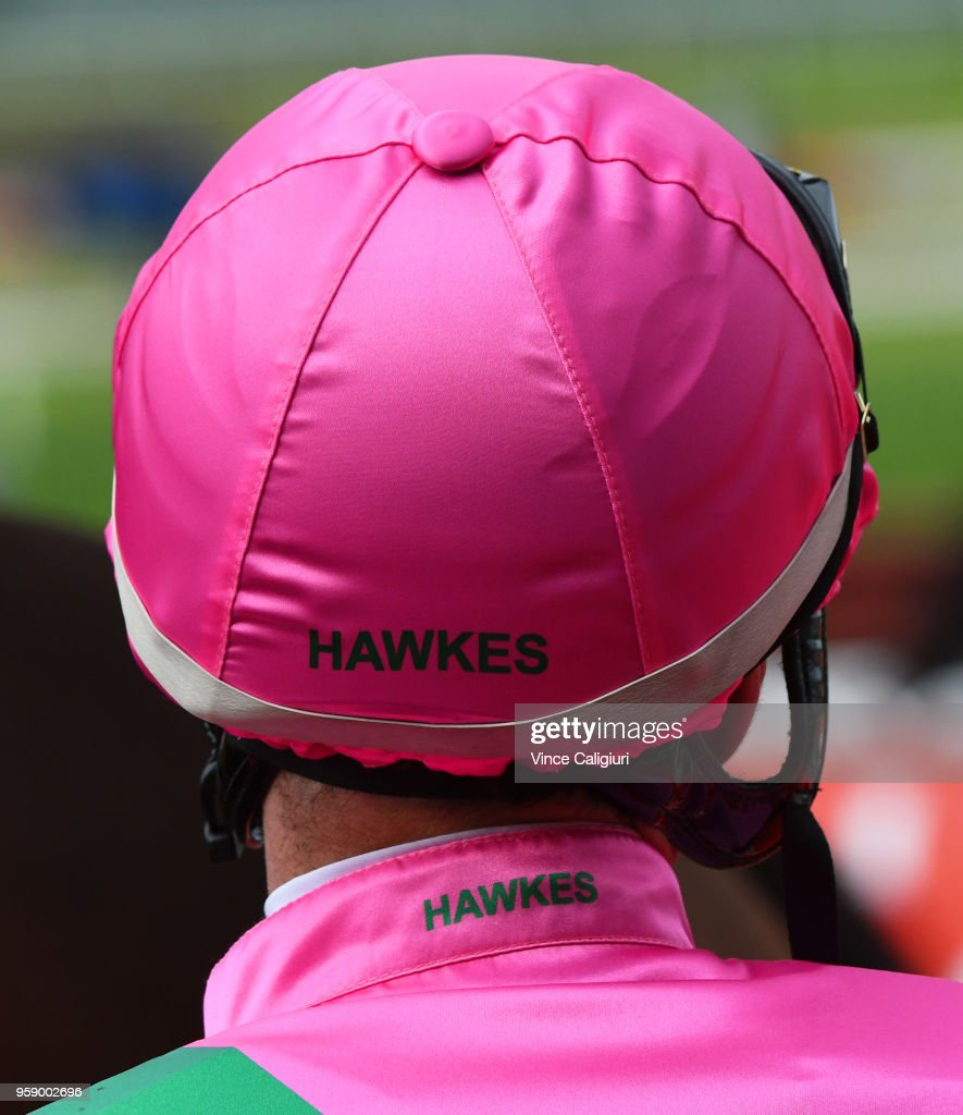 Dwayne Dunn in the famous Hawkes colours after riding Riviera to win Race 2 during Melbourne Racing at Sandown Hillside on May 16, 2018 in Melbourne, Australia.