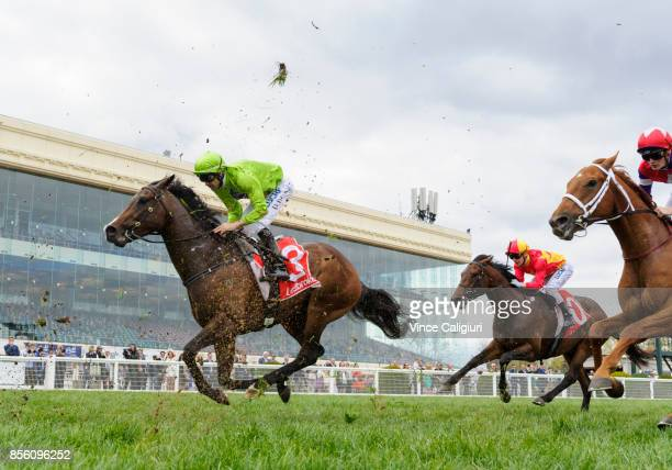 Dwayne Dunn riding Royal Symphony finishing unplaced in Race 6 Caulfield Guineas prelude during Melbourne Racing at Caulfield Racecourse on October 1...