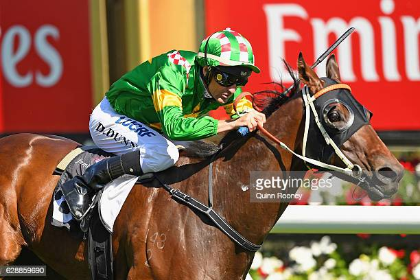 Dwayne Dunn riding Snoopy wins Race 7 the Western Health First Response Pharmacy Cup during Melbourne Racing at Flemington Racecourse on December 10...