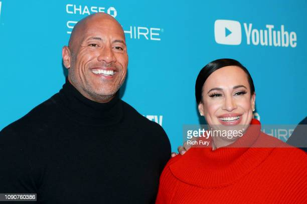 Dwayne Johnson and Dany Garcia attend the Surprise Screening Of Fighting With My Family during the 2019 Sundance Film Festival at The Ray on January...
