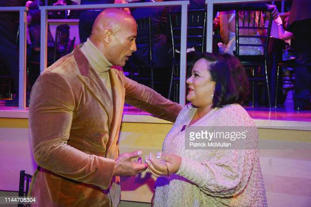Dwayne Johnson and Dream Hampton attend the Time 100 Gala 2019 at Jazz at Lincoln Center on April 23 2019 in New York City