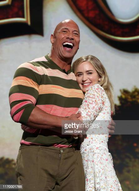 Dwayne Johnson and Emily Blunt of 'Jungle Cruise' took part today in the Walt Disney Studios presentation at Disney's D23 EXPO 2019 in Anaheim,...