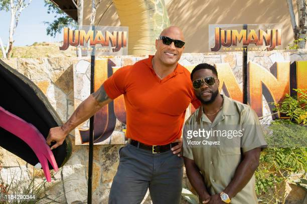 """Dwayne Johnson and Kevin Hart attend the international junket of """"Jumanji: The Next Level"""" at Montage Los Cabos on November 23, 2019 in Cabo San..."""