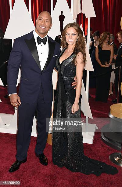 Dwayne Johnson and Lauren Hashian attend the 87th Annual Academy Awards at Hollywood & Highland Center on February 22, 2015 in Hollywood, California.