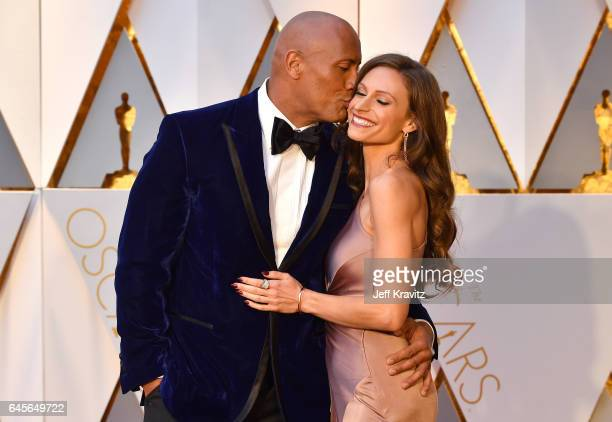 Dwayne Johnson and Lauren Hashian attend the 89th Annual Academy Awards at Hollywood & Highland Center on February 26, 2017 in Hollywood, California.