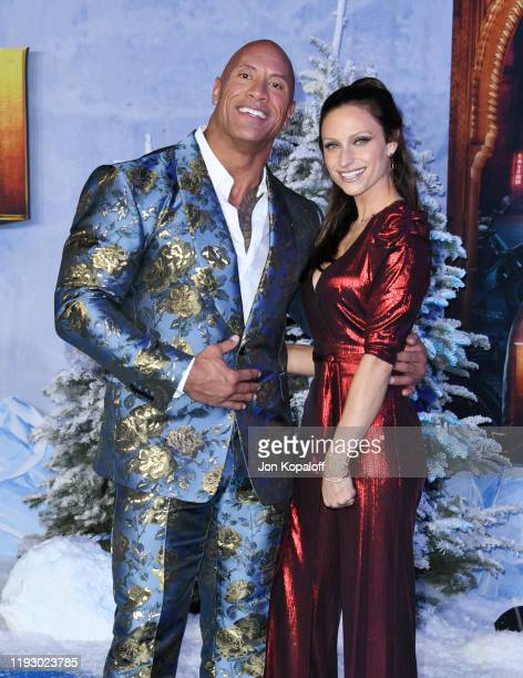 "Dwayne Johnson and Lauren Hashian attend the premiere of Sony Pictures' ""Jumanji: The Next Level"" on December 09, 2019 in Hollywood, California."