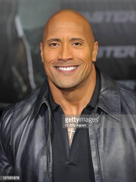"""Dwayne Johnson arrives at the """"Faster"""" Los Angeles Premiere at Grauman's Chinese Theatre on November 22, 2010 in Hollywood, California."""