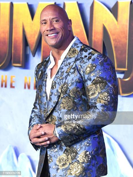 """Dwayne Johnson arrives at the Premiere Of Sony Pictures' """"Jumanji: The Next Level"""" on December 09, 2019 in Hollywood, California."""