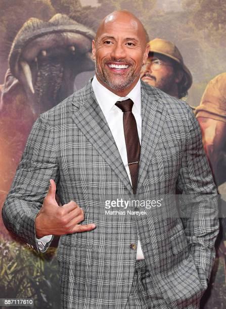 Dwayne Johnson arrives for the German premiere of 'Jumanji Willkommen im Dschungel' at Sony Center on December 6 2017 in Berlin Germany