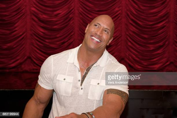 Dwayne Johnson at the 'Baywatch' Press Conference at the Faena Hotel on May 14 2017 in Miami Florida