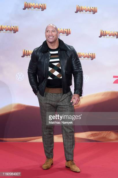 Dwayne Johnson at the Berlin premiere of JUMANJI THE NEXT LEVEL at Sony Center on December 04 2019 in Berlin Germany
