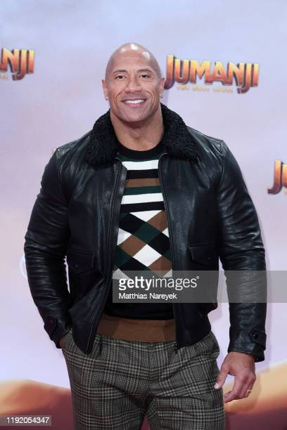 Dwayne Johnson at the Berlin premiere of JUMANJI: THE NEXT LEVEL at Sony Center on December 04, 2019 in Berlin, Germany.