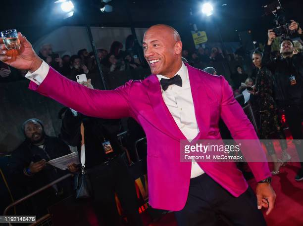 Dwayne Johnson at the UK Premiere of JUMANJI: THE NEXT LEVEL at Odeon IMAX Waterloo on December 05, 2019 in London, England.