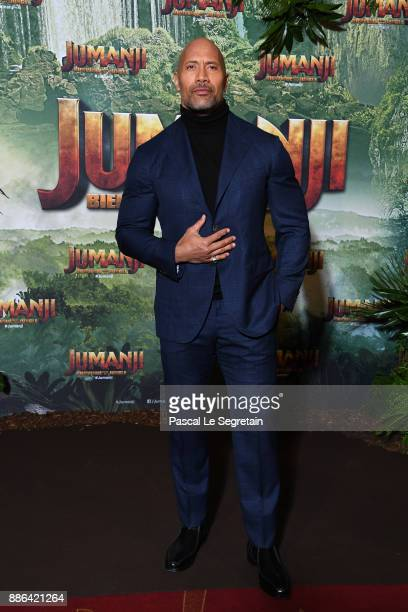 Dwayne Johnson attends 'Jumanji Welcome to the Jungle' Premiere at Le Grand Rex on December 5 2017 in Paris France