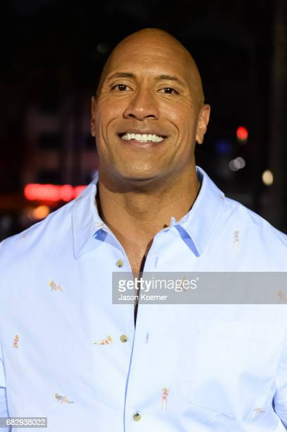 Dwayne Johnson attends Paramount Pictures' World Premiere of 'Baywatch'on May 13 2017 in Miami Florida