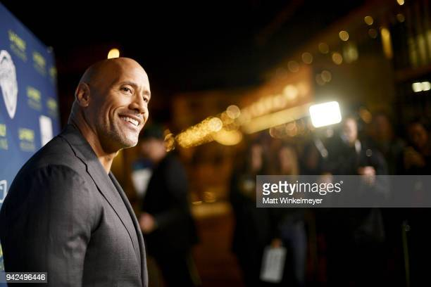 Dwayne Johnson attends the 2018 LA Family Housing Awards at The Lot in West Hollywood on April 5 2018 in West Hollywood California