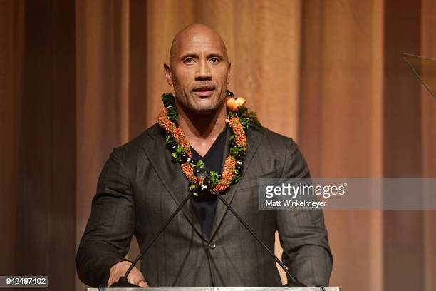 Dwayne Johnson attends the 2018 LA Family Housing Awards at The Lot in West Hollywood on April 5, 2018 in West Hollywood, California.