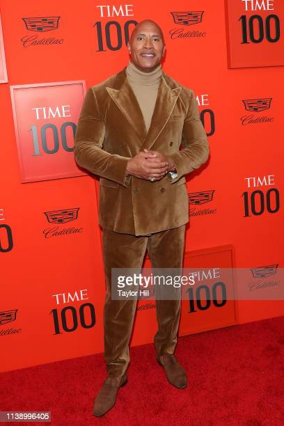 Dwayne Johnson attends the 2019 Time 100 Gala at Frederick P Rose Hall Jazz at Lincoln Center on April 23 2019 in New York City