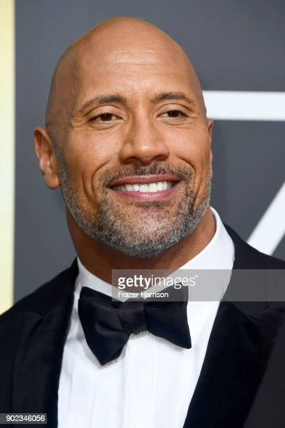 Dwayne Johnson attends The 75th Annual Golden Globe Awards at The Beverly Hilton Hotel on January 7 2018 in Beverly Hills California