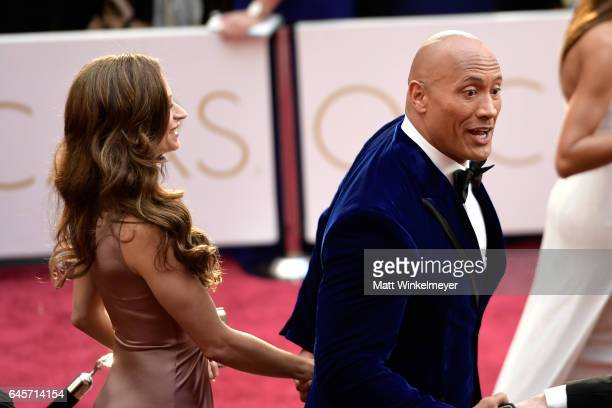 Dwayne Johnson attends the 89th Annual Academy Awards at Hollywood Highland Center on February 26 2017 in Hollywood California