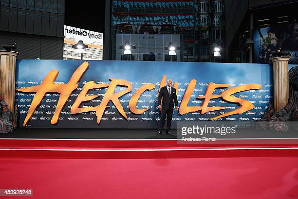 Dwayne Johnson attends the Europe premiere of Paramount Pictures 'Hercules' at CineStar on August 21 2014 in Berlin Germany