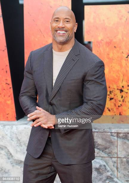 Dwayne Johnson attends the European Premiere of 'Rampage' at Cineworld Leicester Square on April 11 2018 in London England