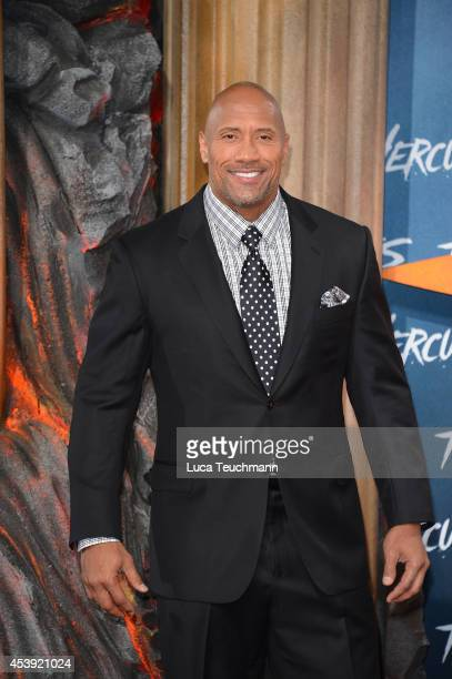 Dwayne Johnson attends the European premiere of the film 'Hercules' at CineStar on August 21 2014 in Berlin Germany
