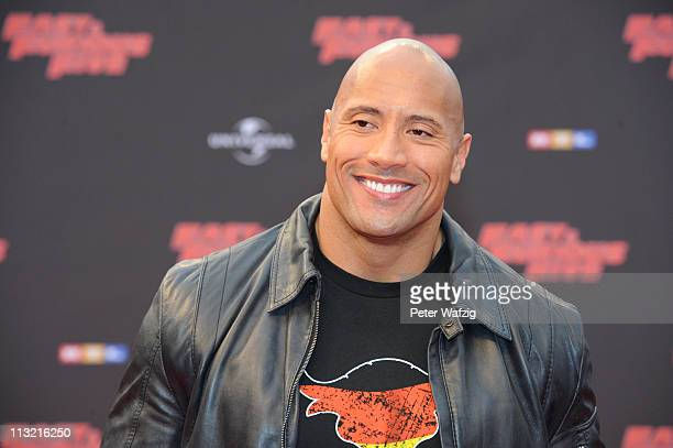 Dwayne Johnson attends the 'Fast Furious 5' Germany Premiere on April 27 2011 in Cologne Germany