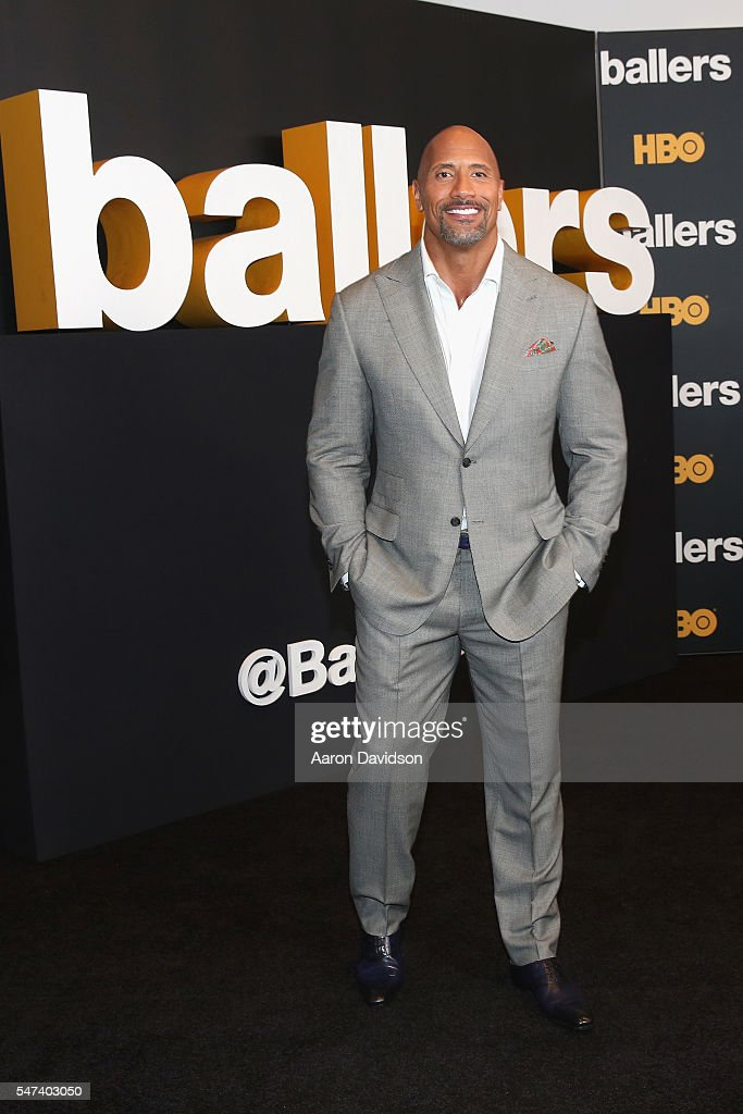 Dwayne Johnson attends the HBO 'Ballers' Season 2 Red Carpet Premiere and Reception on July 14, 2016 at New World Symphony in Miami Beach, Florida.