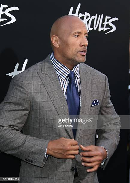 Dwayne Johnson attends the Hercules Los Angeles Premiere on July 23 2014 at the TCL Chinese Theatre in Hollywood California