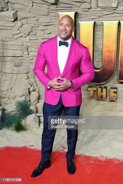 "Dwayne Johnson attends the ""Jumanji: The Next Level"" UK Film Premiere at BFI Southbank on December 05, 2019 in London, England."