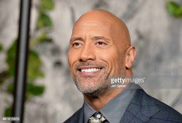 Dwayne Johnson attends the 'Jumanji Welcome To The Jungle' UK premiere held at Vue West End on December 7 2017 in London England