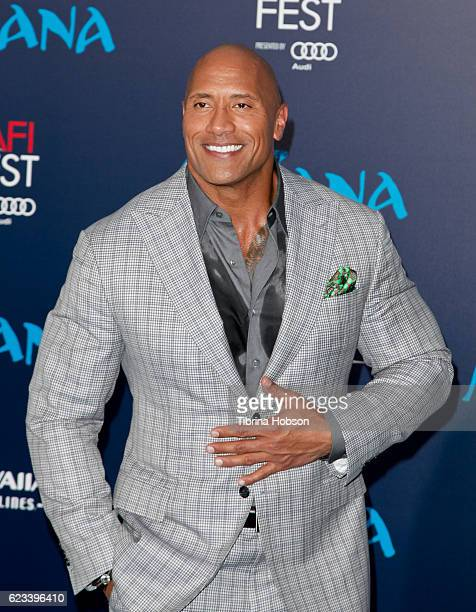Dwayne Johnson attends the premiere of Disney's 'Moana' at AFI FEST 2016 at the El Capitan Theatre on November 14 2016 in Hollywood California