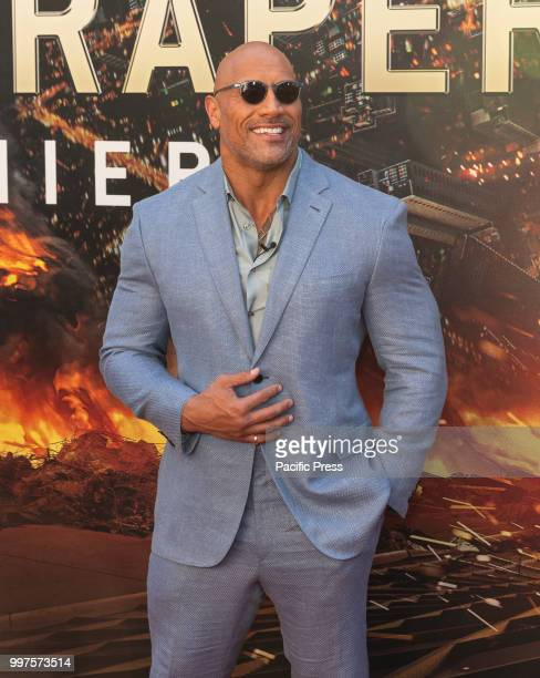 Dwayne Johnson attends the premiere of Skyscraper at AMC Loews Lincoln Center