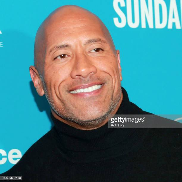 Retransmission with alternate crop Dwayne Johnson attends the Surprise Screening Of Fighting With My Family during the 2019 Sundance Film Festival at...